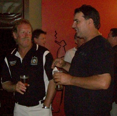 Dave Green and Steve Buckley enjoying the ambience of the Magpie's Nest.