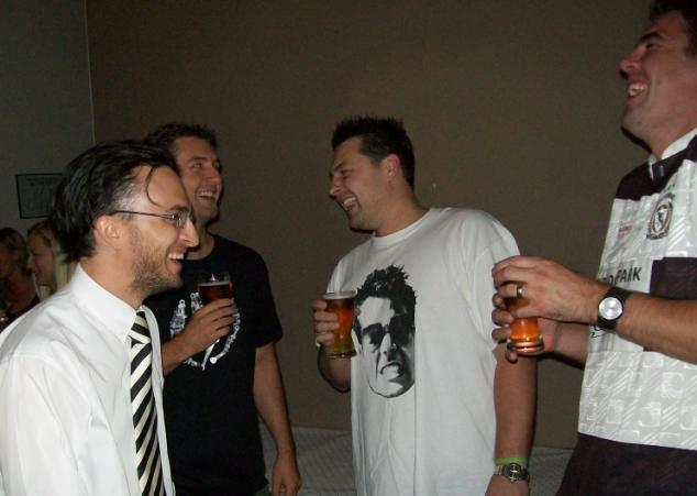 Travis, Peter, Tyson & Alan enjoying a joke